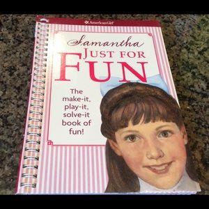 American Girl Samantha Just for Fun Book NWT